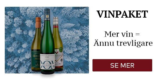 Vinpaket - mer vin = ännu trevligare